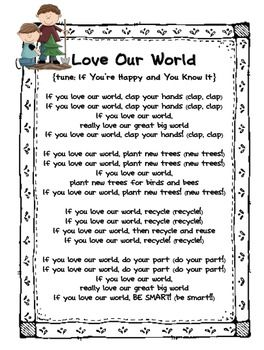 Earth Day Poems and Songs - First Grade Factory - TeachersPayTeachers.com
