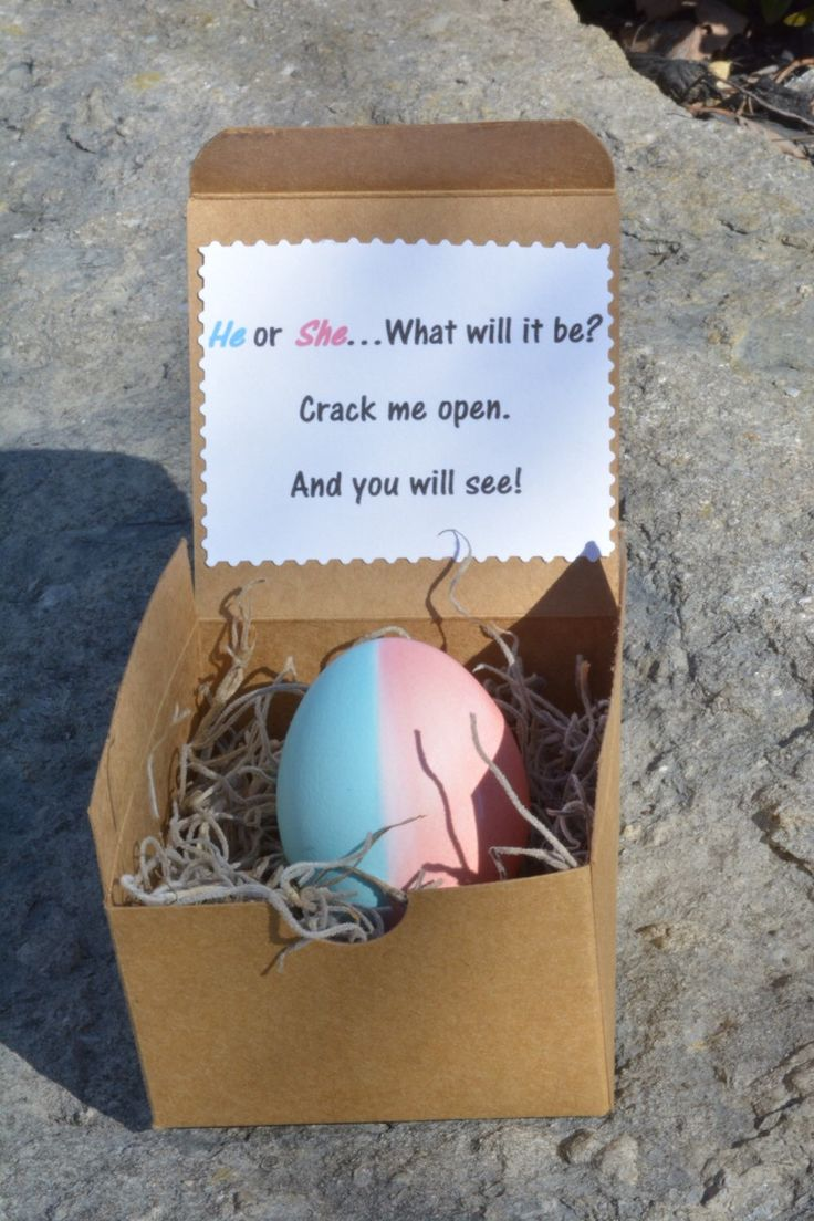 Want to surprise out of state family or friends with your baby's gender? Unique, fun. Handmade with Love  Etsy shop https://www.etsy.com/listing/269355813/baby-gender-reveal-confetti-egg-easter
