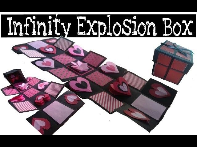 Diy Infinity Explosion Box How To Make Explosion Box Valentine S Day Gift Idea Explosion Box Valentine Box Exploding Box Card