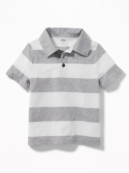 fcdc7c6f Stripe Jersey Polo for Toddler Boys | Elijah's Clothes | Striped ...