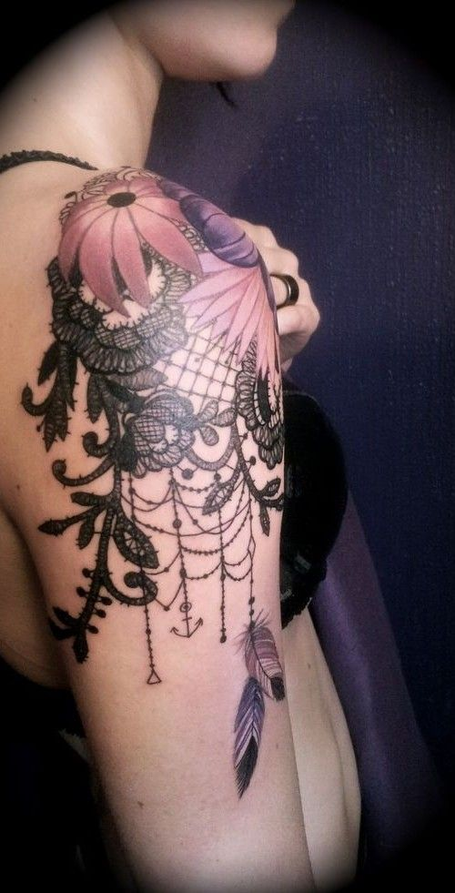 lace sleeve tattoo