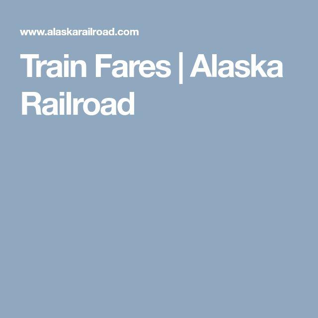 Train Fares | Alaska Railroad