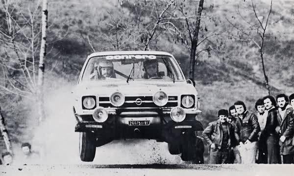 Opel Ascona - rally San Martino di Castrozza 1976
