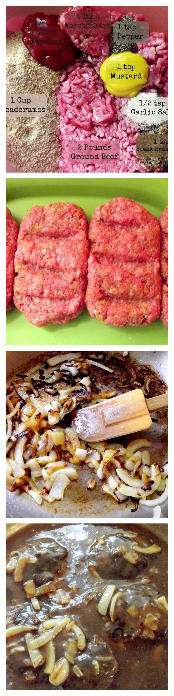 Salisbury Steak | Recipe | Gravy, Dry mustard and The beef