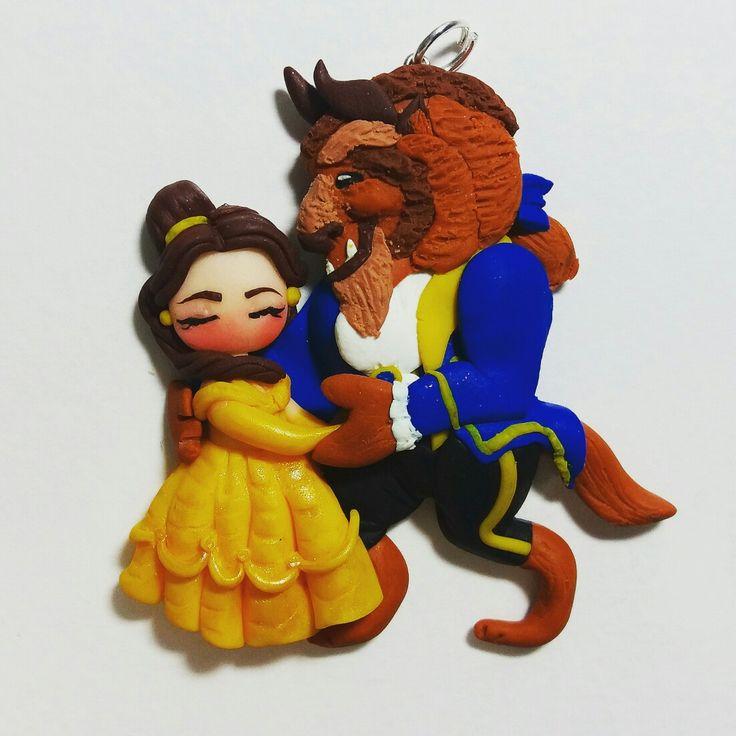 "Ciondolo ""la bella e la bestia"" by firofirofimo"