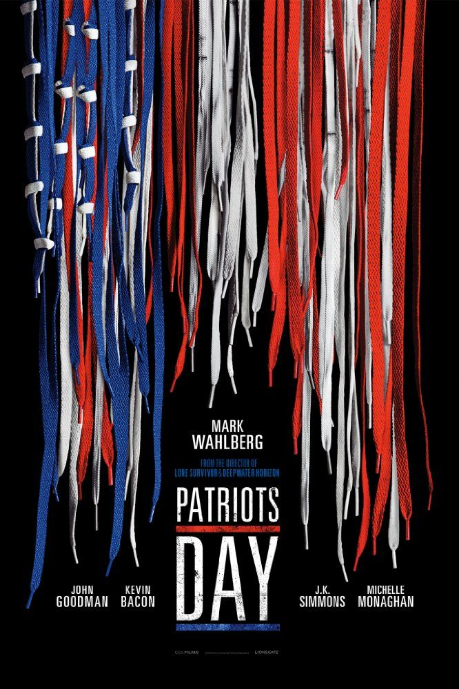 Starring Mark Wahlberg, J.K. Simmons, Kevin Bacon, Directed by Peter Berg | An account of Boston Police Commissioner Ed Davis's actions in the events leading up to the 2013 Boston Marathon bombing and the aftermath, which includes the city-wide manhunt to find the terrorists behind it.