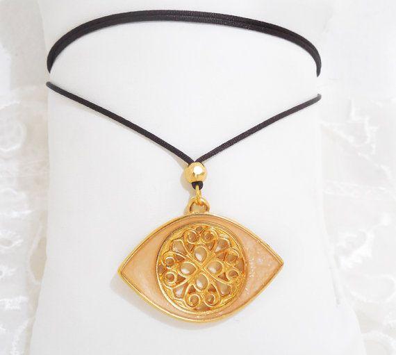 greek evil eye necklace byzantine evil eye by christelboutique