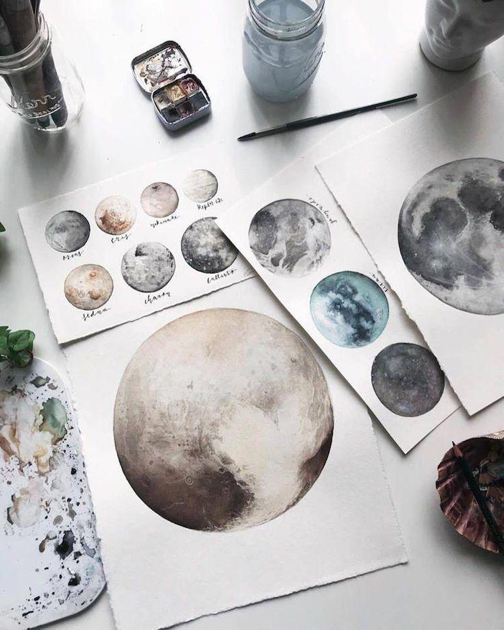 Aquarellbilder des Sonnensystems von Amanda C. Marino #InspirationartDrawing