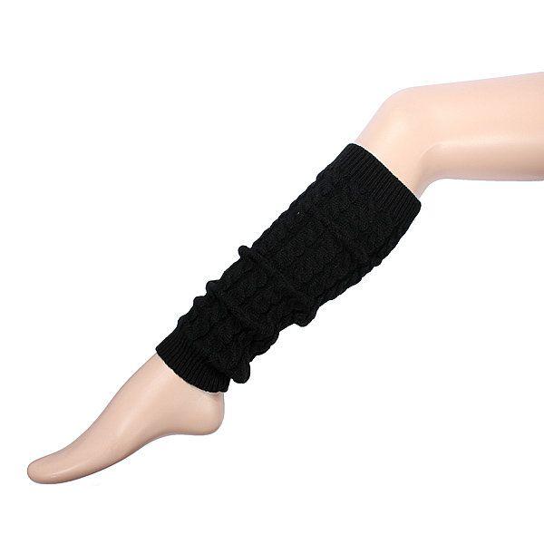 Women Knee High Leg Socks Winter Knit Crochet Warmers Legging - US$4.98