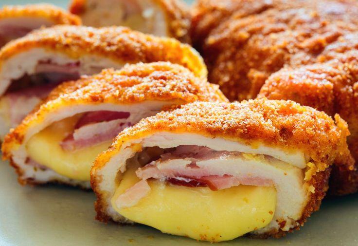 Cordon Bleu de pui la cuptor | Retete culinare - Romanesti si din Bucataria internationala