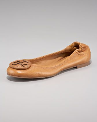 Just ordered these - Reva Logo Ballerina Flat, Royal Tan by Tory Burch at Neiman Marcus.