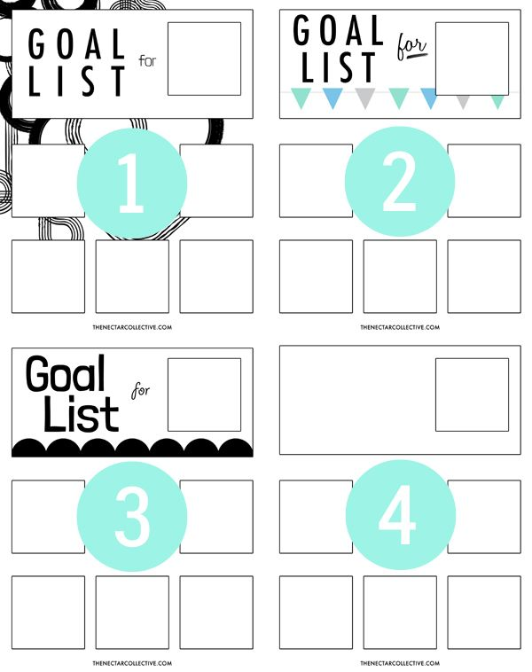 Goal Organizer Poster {Free Printable!} - The Nectar Collective