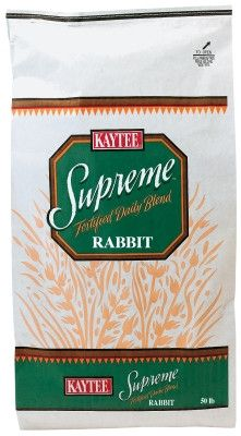 SMALL ANIMAL - FOOD: BULK - RABBIT PELLETS SUPREME 50# - - CENTRAL - KAYTEE PRODUCTS, INC - UPC: 71859077611 - DEPT: SMALL ANIMAL PRODUCTS