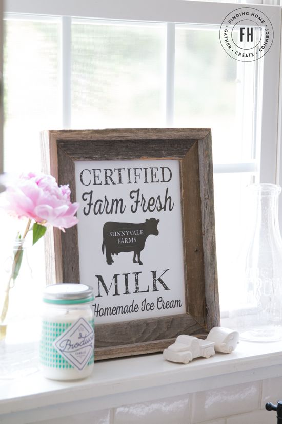 Free Farmhouse Kitchen Printable from Finding Home Farms