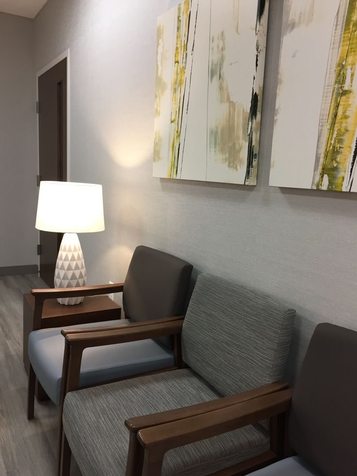 Alexis Pearl Design | Texas Vascular Associates, modern doctors office, grey, Arden Art