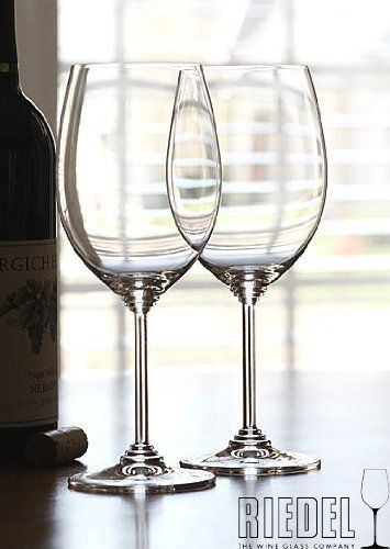 Riedel Wine Cabernet, Viognier Chardonnay Set 2+2 . $37.45. Set includes two 9 1/4 Cabernet glasses and two 8 1/4 Viognier glasses...Buy 3 and receive 1 free! Non lead, machine made. All Riedel glasses are dishwasher safe.