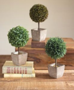 Ball Top Artificial Topiaries