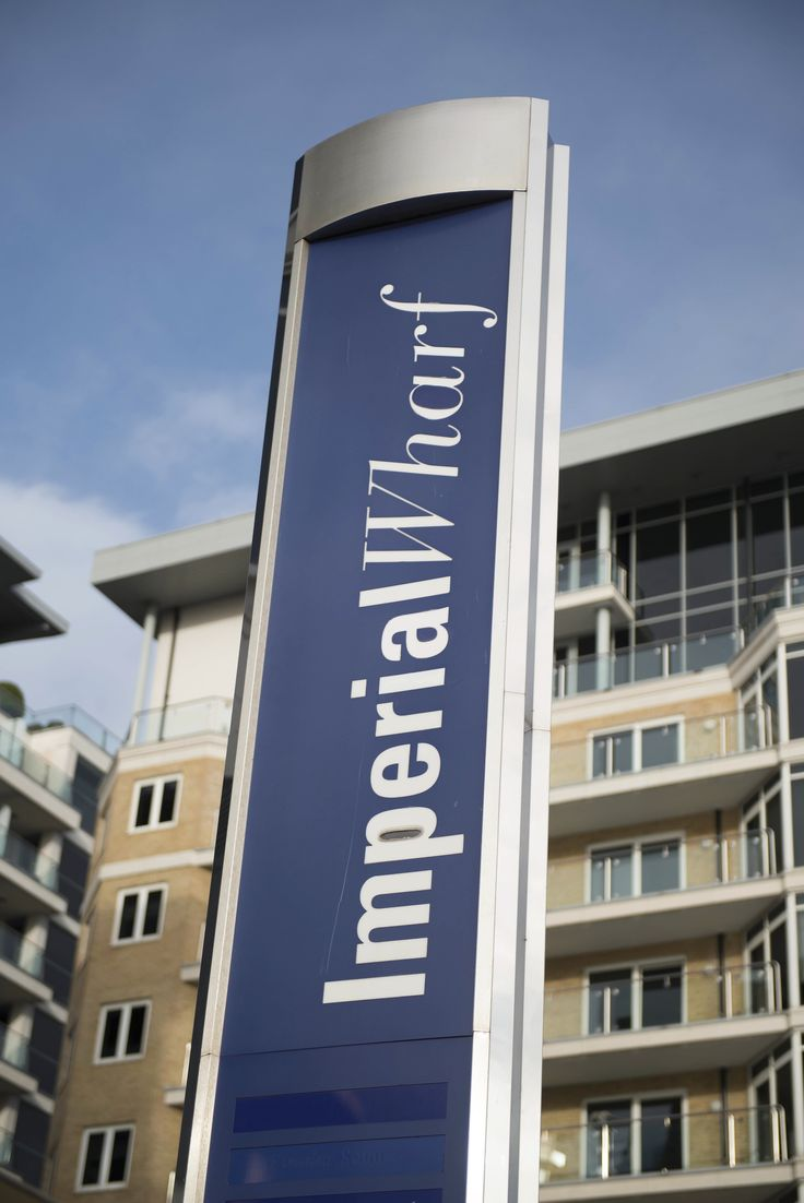 Imperial Wharf signpost.  If you need any help around your property Melchior Gray is a London-based property maintenance company. We specialise in responsive maintenance, painting/decorating & small building projects. Call our team today on 020 7731 2100 www.mglondon.uk