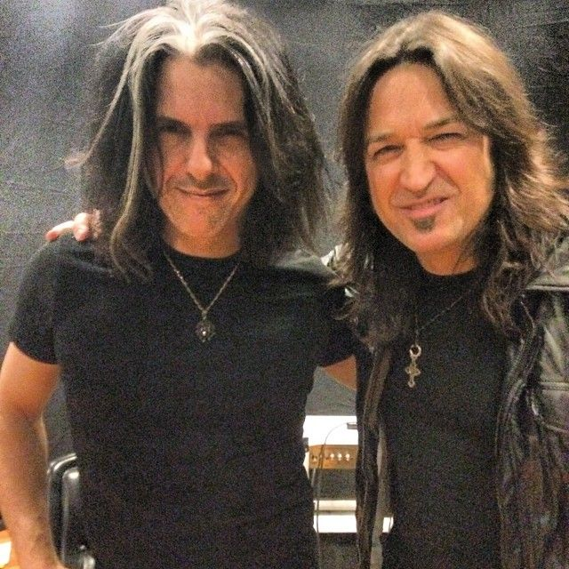 Unlikely duo? Sure, but what the Hell ;). Had a blast taping new FuseTV show the other day w Michael Sweet of Stryper!