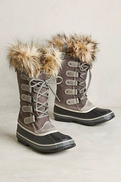 I wear similar boots (little shorter, brown) all the time in winter, over leggings and jeans. Also have black leather knee-high boots and black suede wedge booties. (Suede isn't practical in the snow, so these only work spring/fall.) Would love black and brown booties.