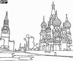 για ζωγραφική Κόκκινη πλατεία στη Μόσχα, Ρωσία