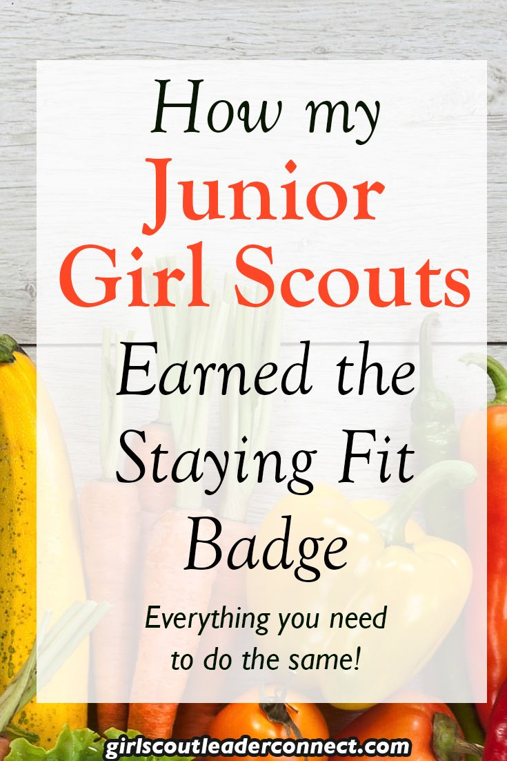 Earn the Staying Fit Badge with your Junior Girl Scouts. Below are a number of ideas you can use with your Girl Scout Troop to help earn the badge.