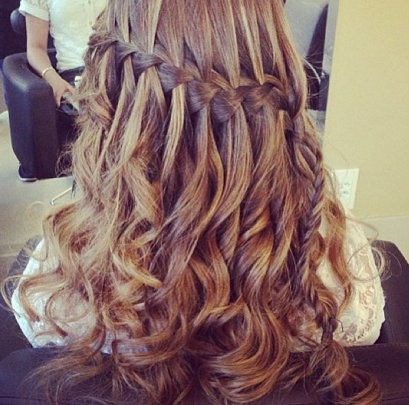 how to style hair for prom beautiful waterfall braid hair beautiful 6506