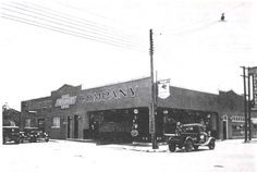 Ramirez Chevrolet Company, later Joe's Chevrolet in downtown Beeville, across the street from the bottling company.