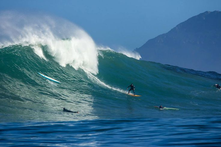 Surfing around Cape Town - biggest waves are at the Dungeons (photo by Wavescape) #surfing #dungeons