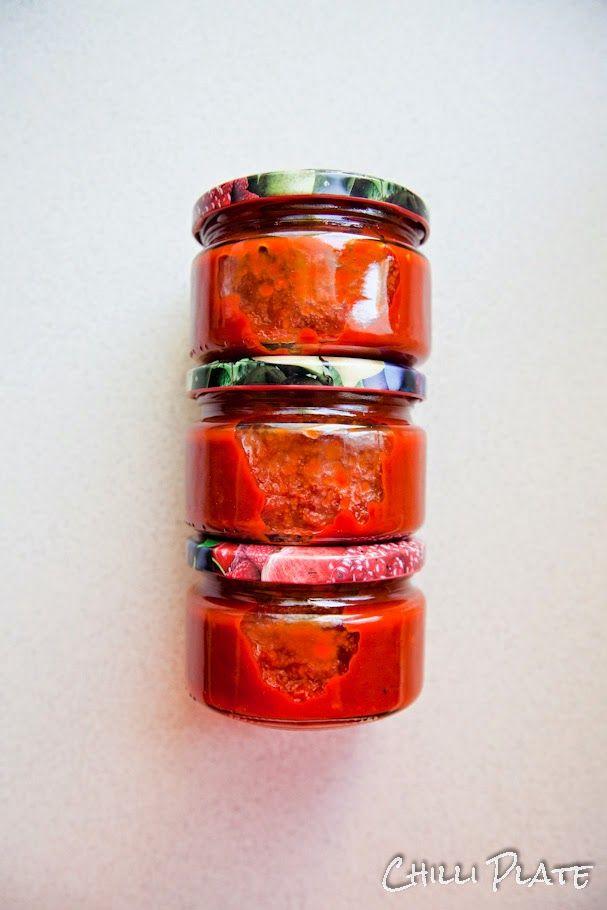 Chilli Plate: Paprykowy keczup - paprykowy sos w słoikach na zimę
