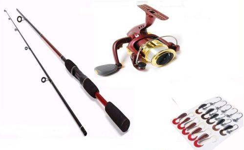 Lure Fishing Rod 2p Reel CX1500 Jig Head Worm Set