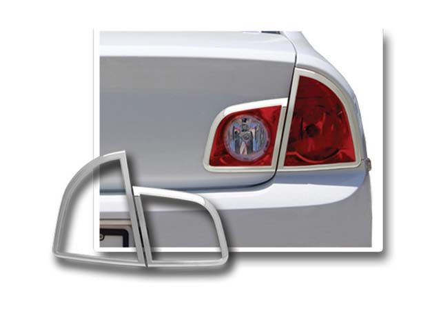 MALIBU 2008-2012 CHEVROLET (4 pieces: Taillight Bezel - Imported, ABS plastic with CHROME overlay) TL48105