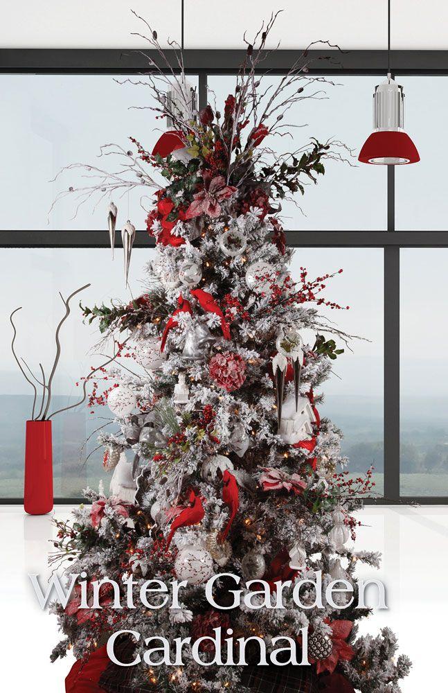 Melrose Designer Christmas Tree 2013: Winter Garden Cardinal