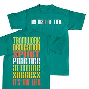 NEW and IN STOCK! My Way of Life T-Shirt by Cheerleading Company