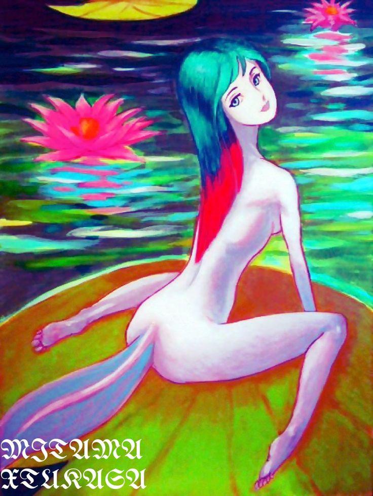 睡蓮の葉の上で くつろぐ睡蓮の妖精です(^O^) この作品は 現在 ポストカードとiPhoneカバーでミタマ堂にて ネット販売中です (^^) Fairy of a water lily かなり気が早いですが 暑中お見舞に使う予定です(^_^;) 左下の文字は MITAMA・XTUKASA です(^O^) ミタマnitma エブリスタミタマ堂●●●堂自作品展示[リンク] 私はオリジナルイラスト作品とオリジナル造形作品をアップしています 和歌も少しアップしています