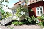 Dit is het geboortehuis van Astrid Lindgren, in Näs, een dorpje vlakbij Vimmerby.
