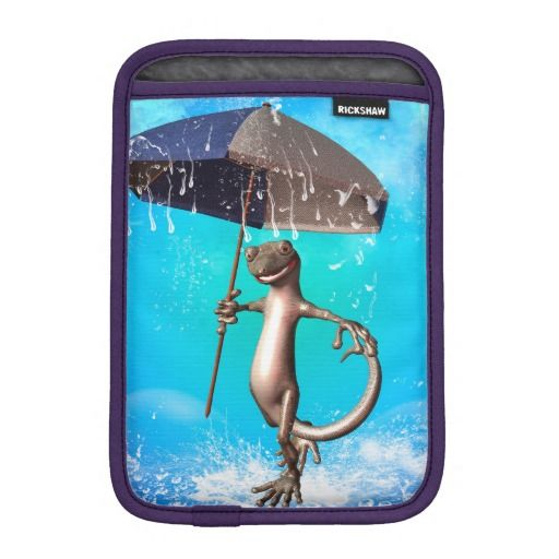 Cute gecko sleeve for iPad mini