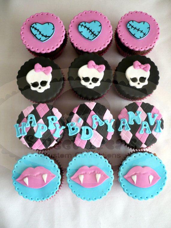 monster high fondant cupcake topper by SweetTreatsSJ on Etsy, $30.00
