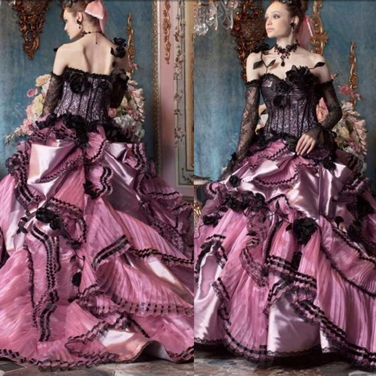 Wholesale A Line Wedding Dresses Buy Black And Pink Lace