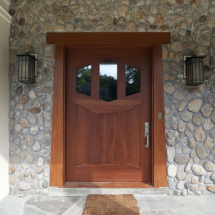 Stone Craftsman Rustic Glass Panel For The Home