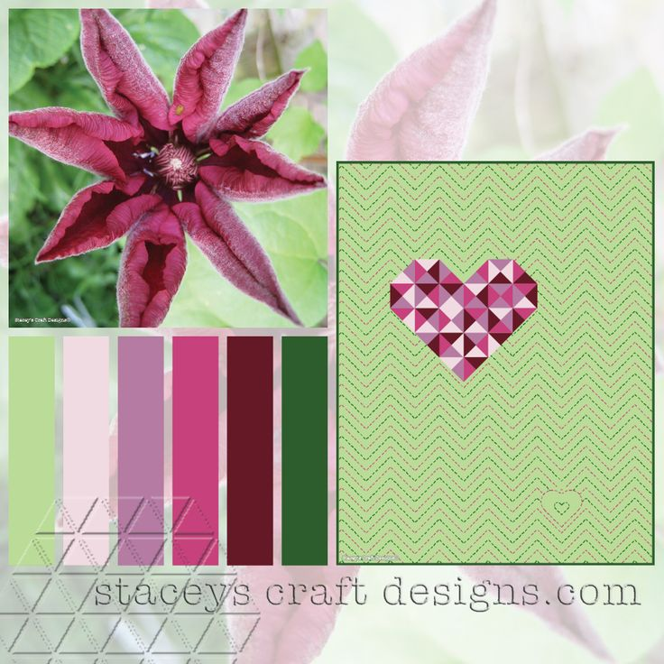 Colour Palette Bordeaux Clematis by Stacey's Craft Designs