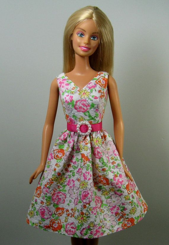 Barbie Doll Clothes  Pastel Print by OhSoChicDollClothes on Etsy, $8.50