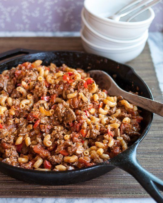 Ingredients 1 cup uncooked elbow macaroni (I used whole wheat) 1 pound lean ground beef (90% lean) 1 medium onion, chopped 1 can (28 ounces) diced tomatoes, undrained ⅔ cup frozen corn (I used 1 cup) 1 can (8 ounces) tomato sauce 1 can (4 ounces) chopped green chilies ½ teaspoon ground cumin (I used …