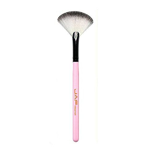 JAF 1 Piece Cosmetic Tool Makeup Brush Wooden Handle Fan Brush Beauty Tool Face Brush (Pink). You can buy this single makeup brush, so as to make up your own DIY brush set with your other makeup brushes. High quality corrugated nylon fiber and high quality workmanship, you will like it. Size: 7mm x Length 183mm, easy to carry. Material:nylon fiber, Aluminum tube and wood. Applicable crowd: professional makeup artist, or use at home.