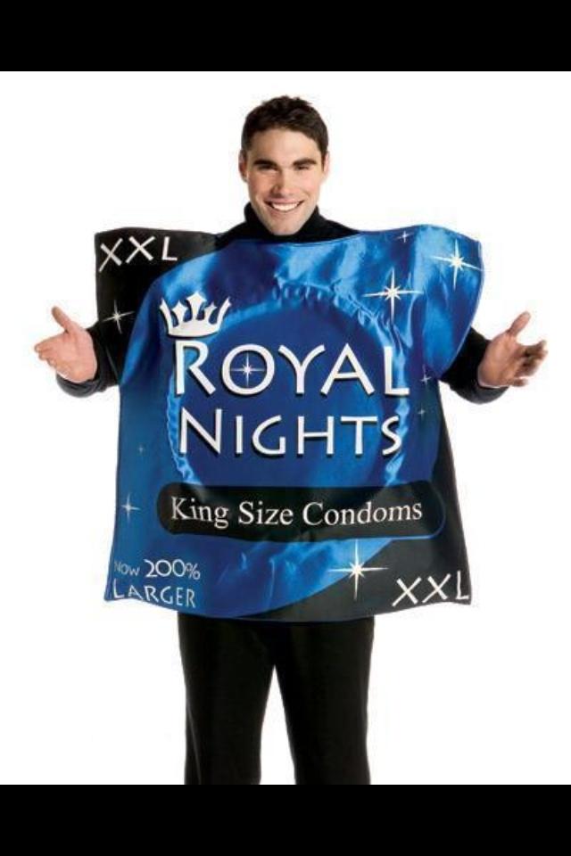 Condom costume royal nights hahaha