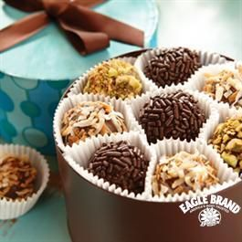 These ones are my favorite, they stay so soft. Brigadeiros Caramel Fudge Truffles from Eagle Brand®