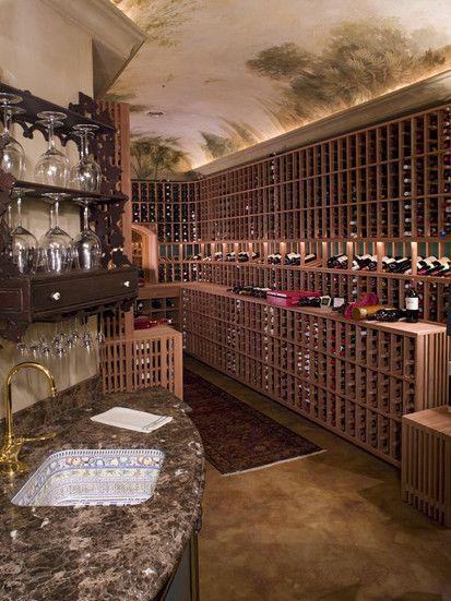 Wine Room, Traditional Wine Cellar, Minneapolis