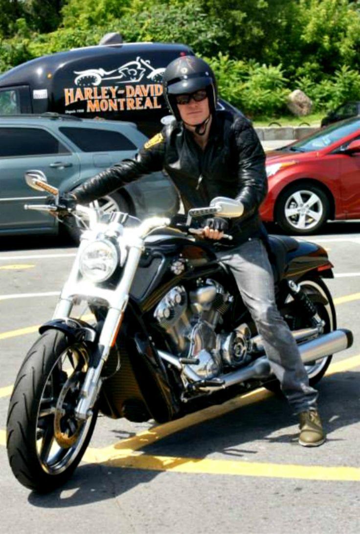 Michael Fassbender at Harley Davidson Montreal In July 2013