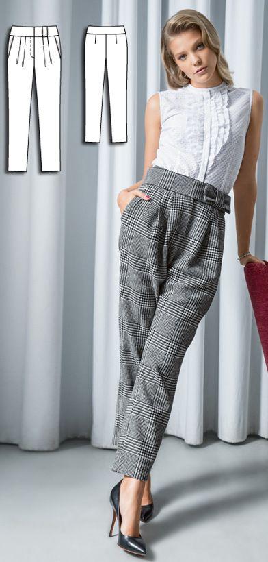 Pleated Trousers Burda Aug 2016 #111 Pattern $5.99: http://www.burdastyle.com/pattern_store/patterns/pleated-trousers-082016
