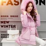 The new korean version of the ladies slim was thin down jacket thick fur collar long cotton coat female winter coat เสื้อกันหนาวสไตล์แฟชั่นเกาหลี ผ้า Cotton แท้ 100% ด้านในบุขนเป็ด งานประณีต คุณภาพของสินค้าชุดนี้สูงเกินราคามาก